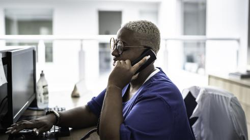 BCBS Alabama employee makes outreach calls to at-risk members during COVID-19