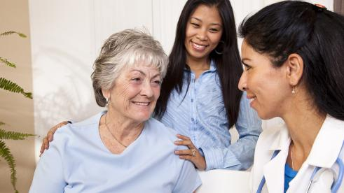 patient getting receiving care