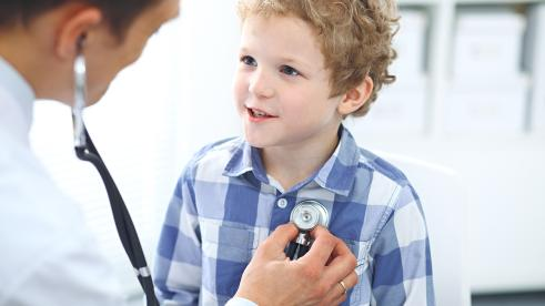 Little boy with doctor