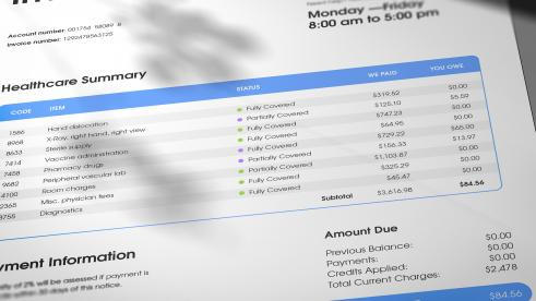 Invoice Healthcare summary