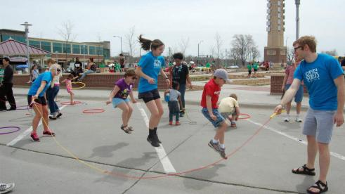 Taking to the streets to combat childhood obesity